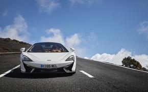 Picture machine, white, McLaren, supercar, the front, McLaren, 570GT