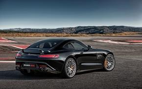 Picture black, Mercedes-Benz, Brabus, AMG, Black, BRABUS, AMG, 2015, GT S, C190, Mercedes