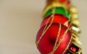 Picture balls, macro, toys, new year, Christmas, ukrashenie
