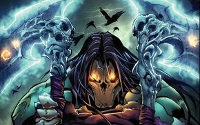 Picture death, mask, hero, evil, art, death, darksiders 2