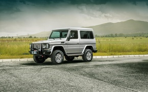 Picture Mercedes-Benz, silver, SUV, Mercedes Benz, silvery, G-Class, Side Yordanov
