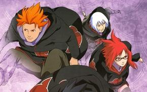 Picture chase, red, glasses, squad, ninja, ninja, Akatsuki, Suigetsu Hozu Any, Naruto Shippuden, Karin, Naruto shippuuden, …