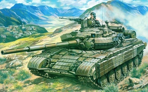 Picture weapons, Wallpaper, tank, armor, t-64b