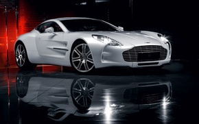 Picture Aston Martin, Reflection, Auto, Supercar, ONE-77