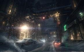 Picture snow, machine, the city, the game, Batman, game wallpapers, Batman: Arkham Origins