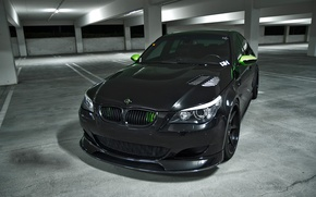 Picture black, tuning, bmw, BMW, shadow, Parking, sedan, black, Blik, parking, e60