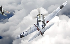 Wallpaper the sky, The plane, P-47