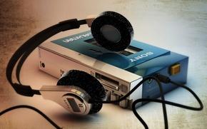 Picture macro, background, Sony Walkman