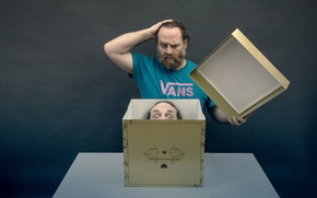 Picture box, people, head