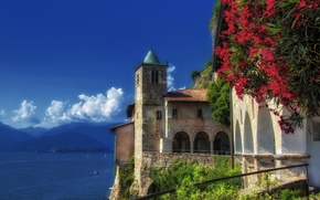 Picture mountains, Italy, Italy, Leggiuno, Lombardy, Lake Maggiore, Lombardy, lake Maggiore, Leggiuno, The monastery of Santa …