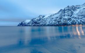 Picture landscape, nature, seascape, Norway, Senja, Ersfjord