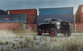 Picture car, tuning, SUV, black, pickup, GMC, Denali, 2500