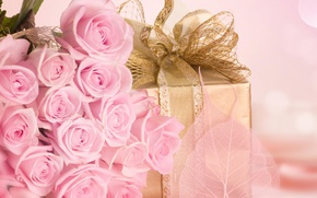 Picture love, flowers, holiday, gift, romance, roses, bouquet, pink, recognition, surprise