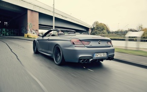 Picture speed, BMW, car, convertible, back, Cabrio