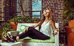 Picture look, girl, New York City, Kristina Hoock, Hudson Hotel Rooftop