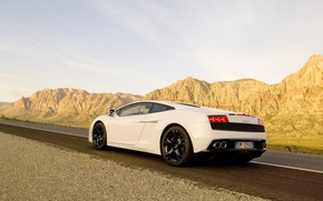 Picture road, the sky, mountains, cars, lamborghini, sky, cars, Lamborghini, mountains, roads