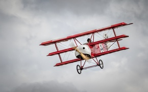 Picture aviation, army, the plane, the red Baron, Triplane