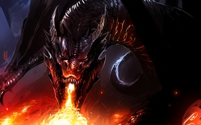Picture flame, dragon, Smaug, by TheRisingSoul