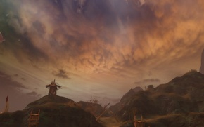 Picture Aion, mountains, clouds