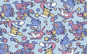 Picture texture, anime, art, Pikachu