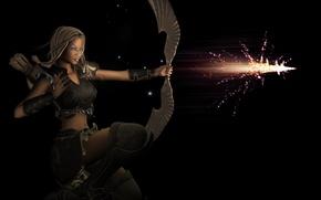Wallpaper warrior, fantasy, girl, arrow