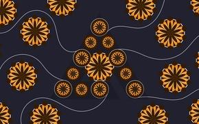 Picture Logo, Wallpaper, AIMP, Hi-Teck, Deep Night Flowers