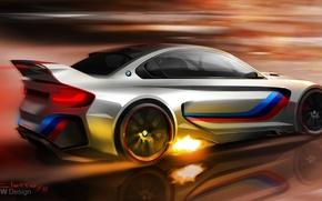 Picture fire, figure, BMW, concept, art, BMW Vision Gran Turismo