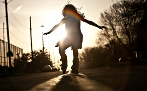 Picture road, mood, dance, girl
