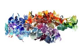 Picture Crystal Maiden, Bloodseeker, Morphling, Dota 2, Bounty Hunter, Juggernaut, Bane, Doom, Drow Ranger, Lina, Razor, …