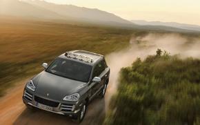 Picture machine, Porsche, jeep, CayenneS, Transsyberia
