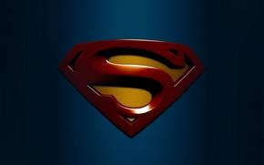 Picture blue, background, Wallpaper, logo, picture, superhero, izobrazenie