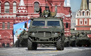 Picture Tiger, parade, May 9, transport, tool, Victory Parade, Red Square, Special, GAZ-233014