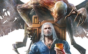 Picture Monster, Geralt, The Witcher, The Witcher, Blood and Wine, The Witcher 3: wild Hunt - ...