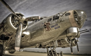 Picture weapons, the plane, B17