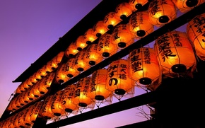 Picture The evening, Japan, Lights