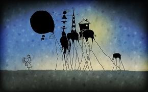 Wallpaper joy, the game, fiction, elephant