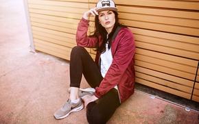 Wallpaper background, jacket, face, sneakers, jeans, cap, model, Kiki