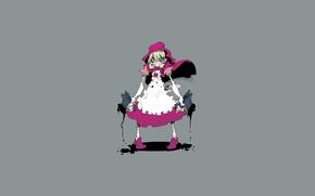 Picture anger, minimalism, little red riding hood, grey background, rabies, capcom, darkstalkers, baby bonnie hood, Kapka, …