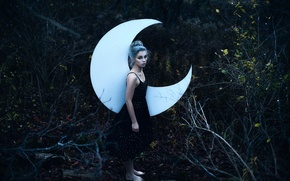 Picture forest, girl, Aleah Michele, Swear by the Moon