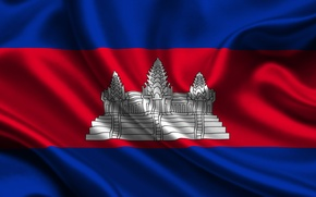Picture Red, Blue, Flag, Texture, Flag, Cambodia, Cambodia, Kingdom of Cambodia, The Kingdom Of Cambodia
