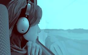 Picture vector, headphones, ring