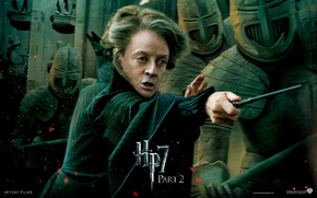 Picture warriors, Harry Potter and The Deathly Hallows part 2, Minerva McGonagall, Minerva McGonagall, the battle …