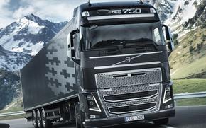 Picture road, movement, track, truck, Volvo, 750, the truck, Trak, volvo fh 16
