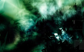Wallpaper cell, darkness, green