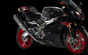 Wallpaper red, motorcycle, aprilia, black