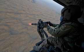 Wallpaper the fire, soldier, Canada, soldiers, machine gun, helicopter