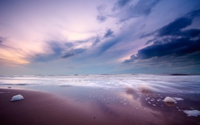 Wallpaper landscapes, shore, sand, sea, beaches, water, the ocean, the sky, stones
