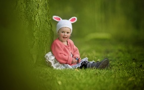 Picture joy, mood, girl, ears, cap