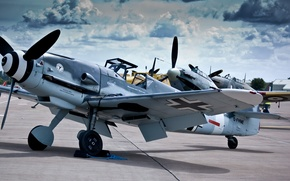 Picture aircraft, Messer Schmit, Bf-109, bf-109