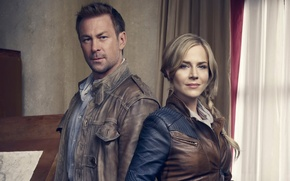 Picture the series, Defiance, Call, Julie Benz, Grant Bowler